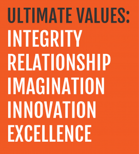 Ultimate Values: Integrity Relationship Imagination Innovation Excellence