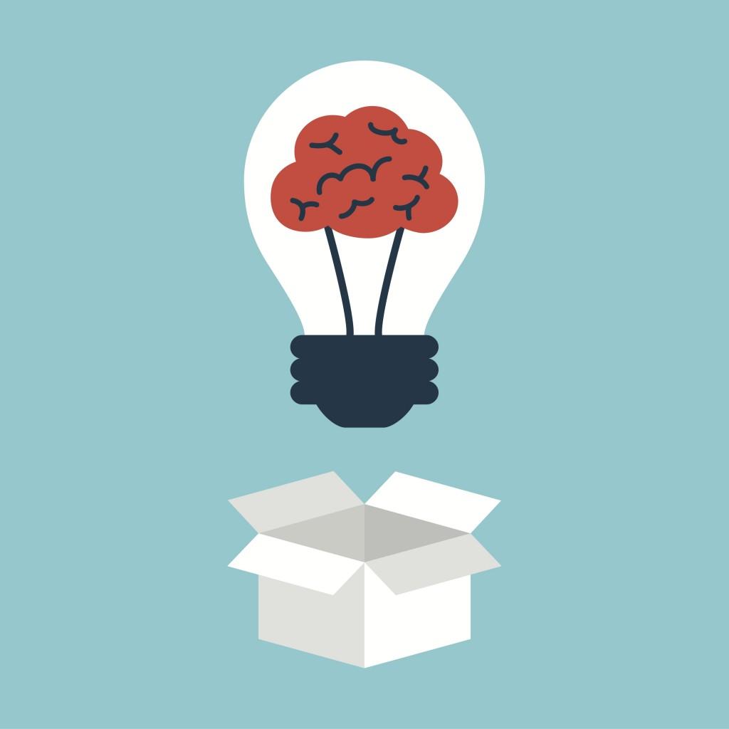 lightbulb and brain-idea